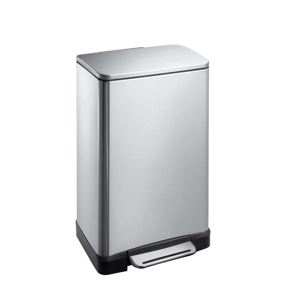 EKO pedaalemmer E-Cube - zilverkleurig - 30l