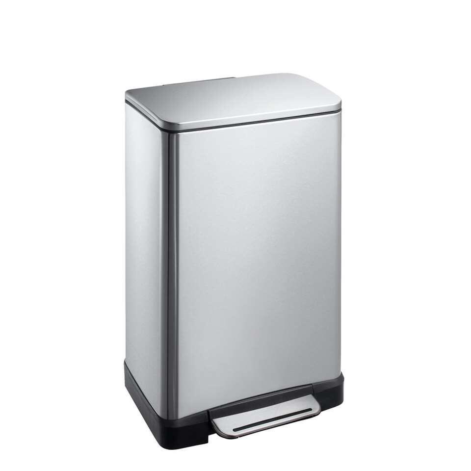 EKO pedaalemmer E-Cube - zilverkleurig - 30l - Leen Bakker