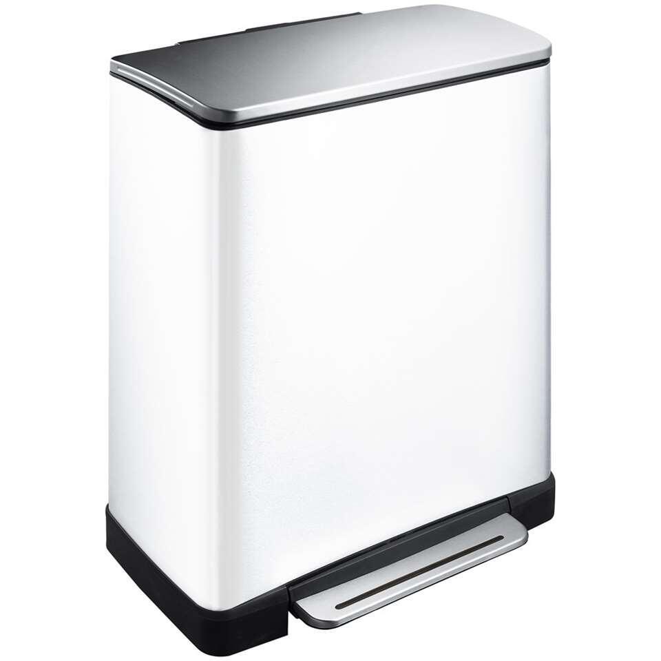 EKO recycling pedaalemmer E-Cube - wit - 28+18l