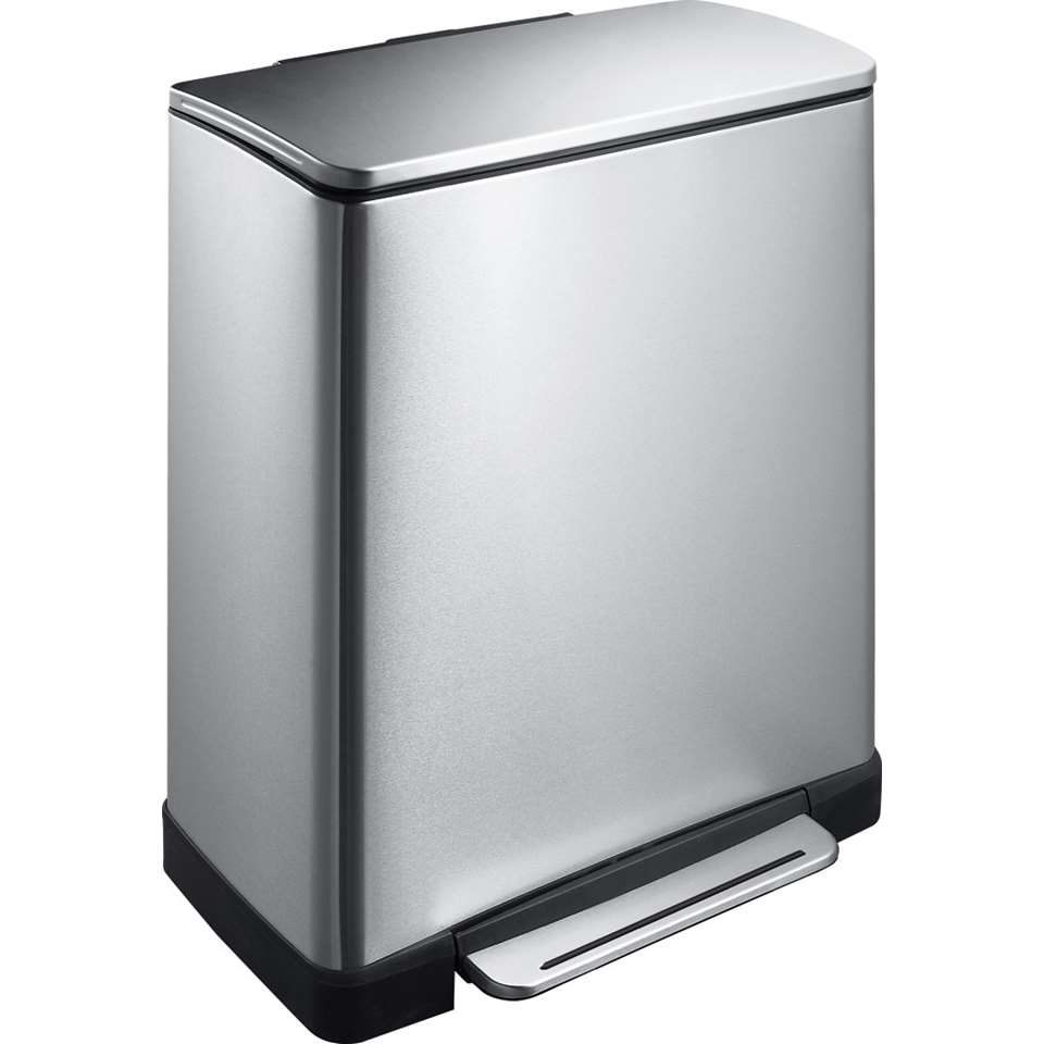 EKO pedaalemmer E-Cube - zilverkleurig - 50l - Leen Bakker