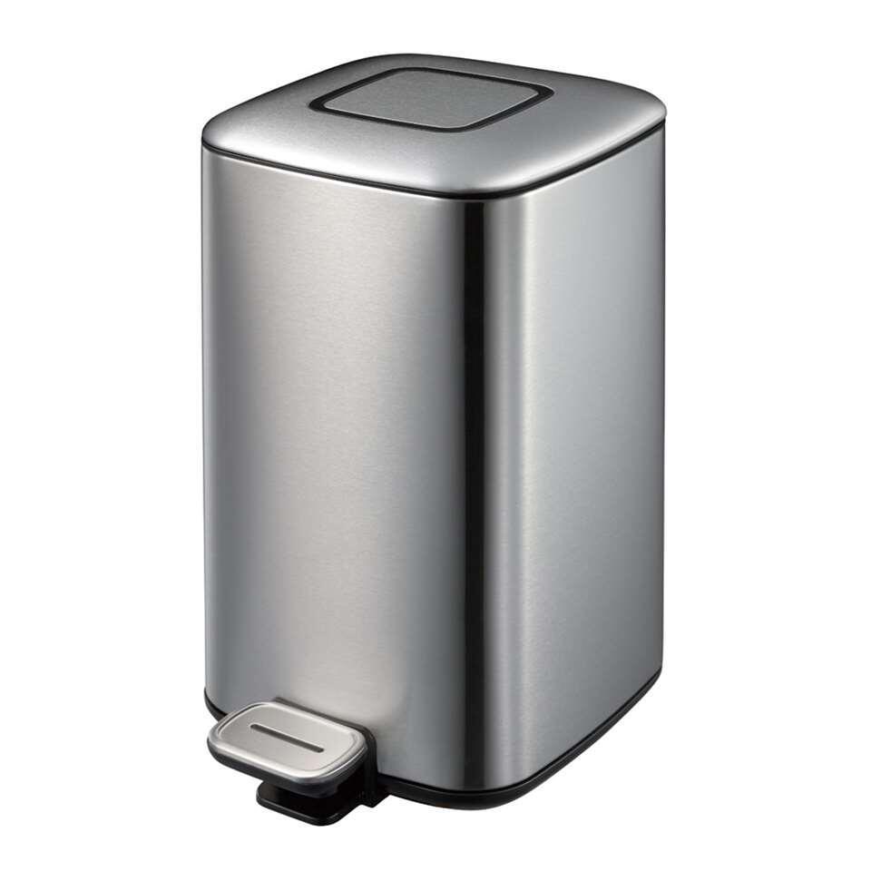 EKO pedaalemmer Regent - zilverkleurig - 12l - Leen Bakker