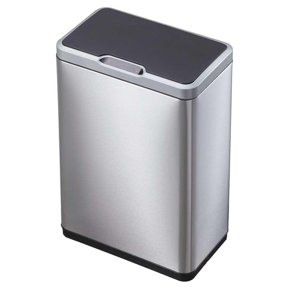 EKO sensor afvalbak Mirage - zilverkleurig - 45l - Leen Bakker