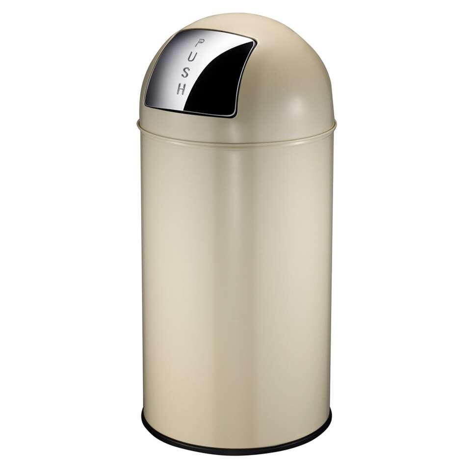 EKO afvalbak Pushcan - creme - 40l