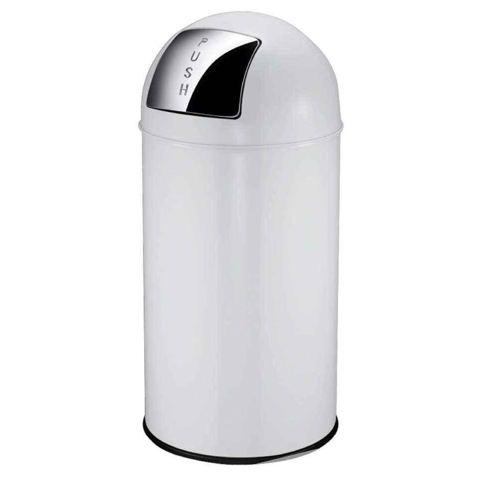 EKO afvalbak Pushcan- wit - 40l