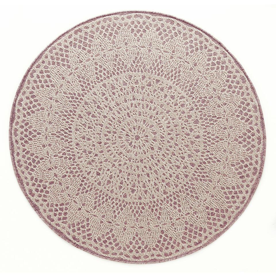 Art for Kids vloerkleed Gehaakt - roze - 200 cm