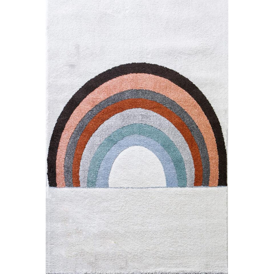Art for Kids vloerkleed Regenboog - multikleur - 100x150 cm - Leen Bakker