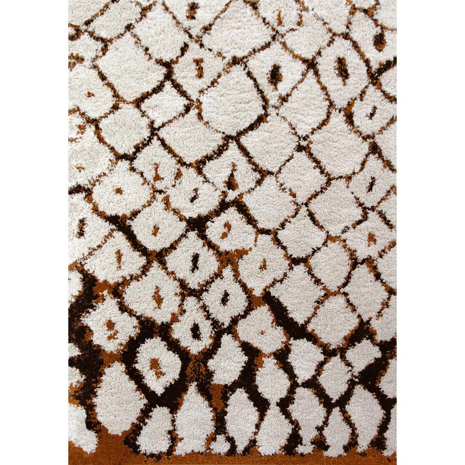 Art for Kids vloerkleed Marrakech - bruin/oranje - 120x170 cm - Leen Bakker
