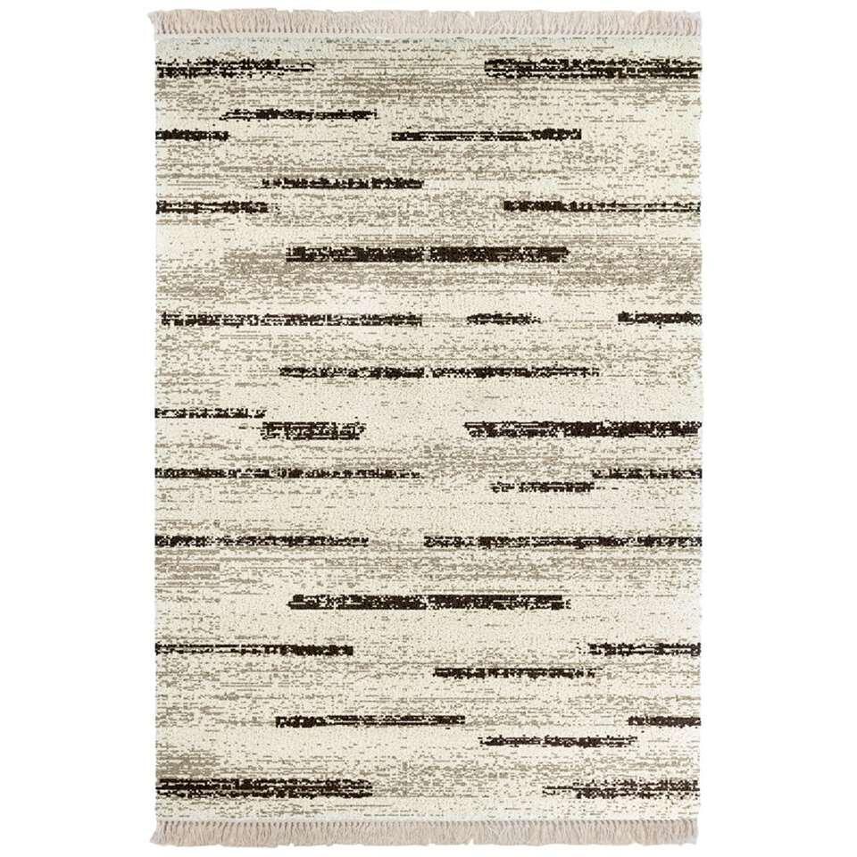 Vloerkleed Horreby - beige/bruin - 160x230 cm - Leen Bakker