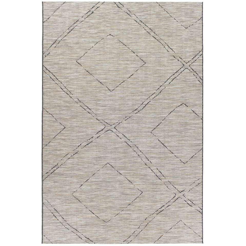 Vloerkleed Ribe - grijs - 120x170 cm - Leen Bakker