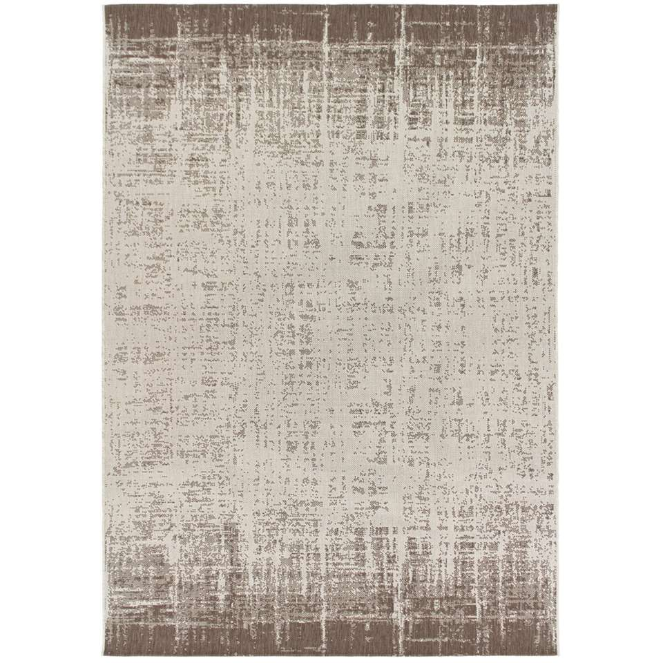 Vloerkleed Laidi - beige/koffiekleur - 120x170 cm - Leen Bakker