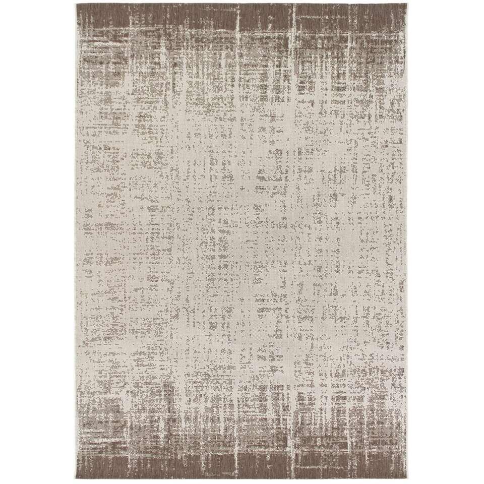 Vloerkleed Laidi - beige/koffiekleur - 160x230 cm - Leen Bakker