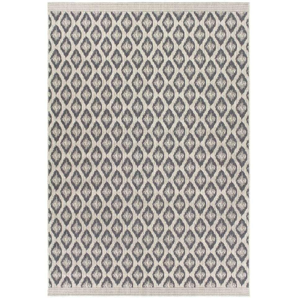 Vloerkleed Karise - zand/grijs - 120x170 cm - Leen Bakker