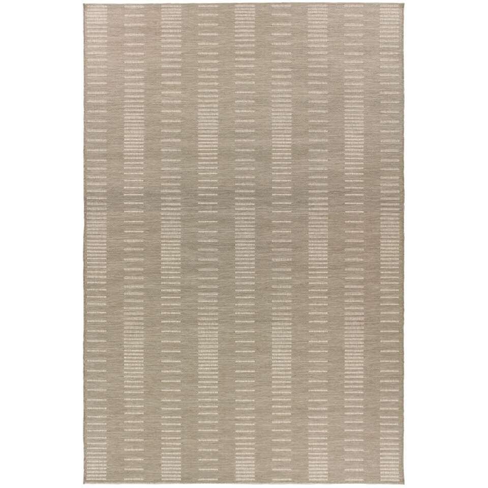 Vloerkleed Nybro - beige/zand - 160x230 cm - Leen Bakker