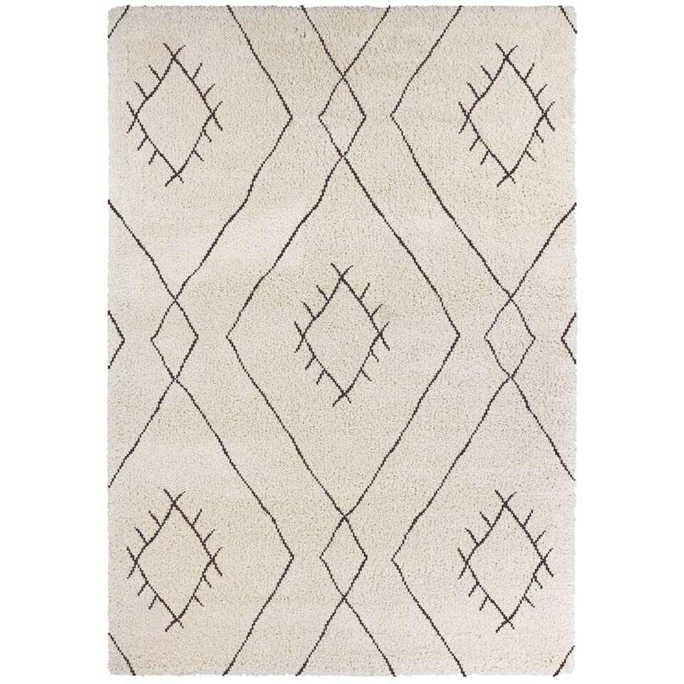 Vloerkleed Vantore - beige/bruin - 160x230 cm - Leen Bakker