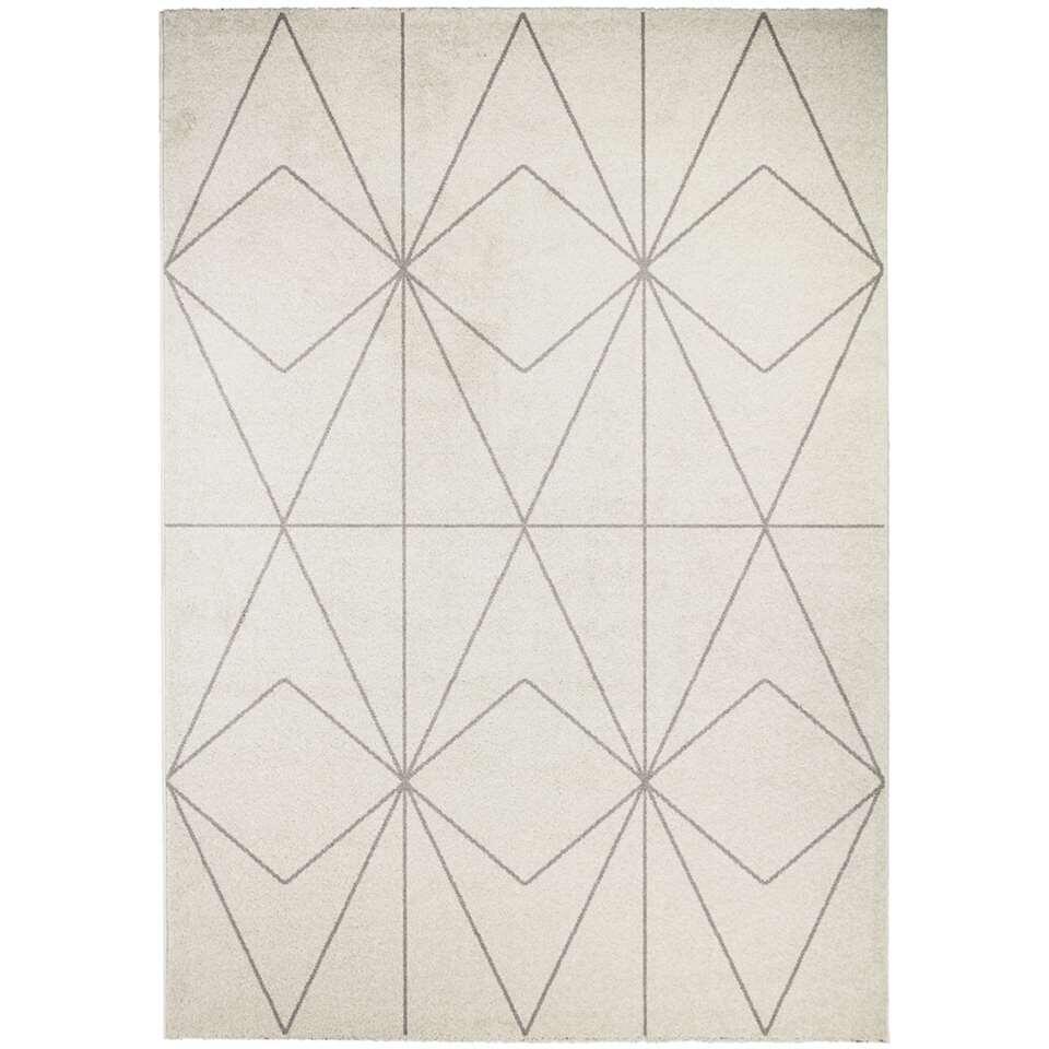 Vloerkleed Bojas - crème/titanium - 120x170 cm - Leen Bakker