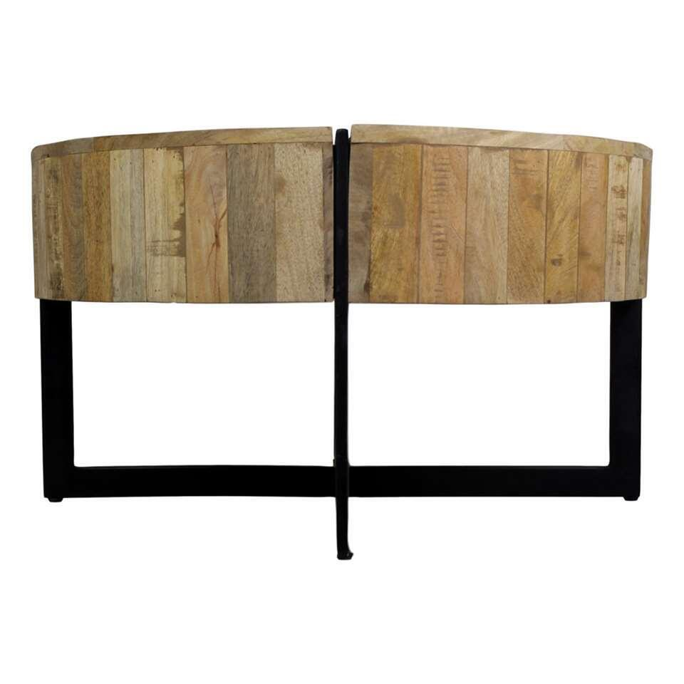 HSM Collection salontafel Jackson - naturel/zwart - Ø75x43 cm