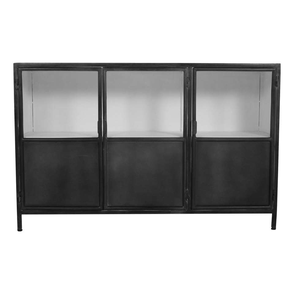 HSM Collection dressoir Bronx - grijs/wit - 130x36x85 cm - Leen Bakker