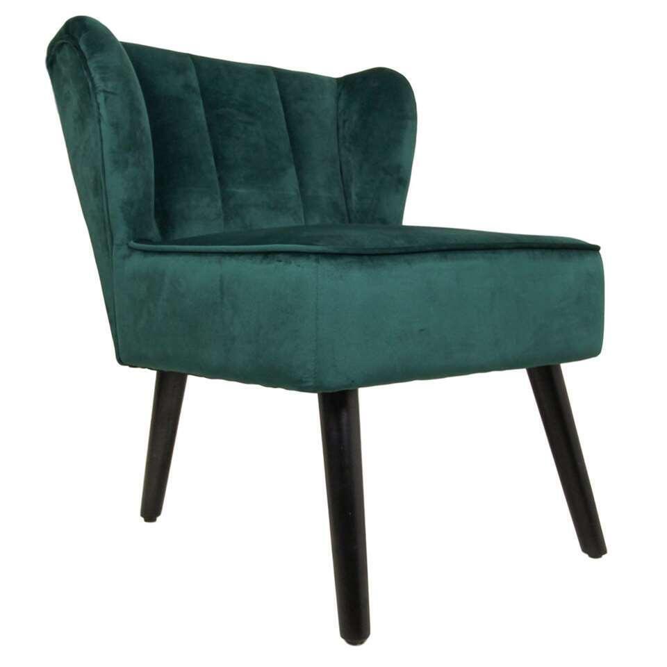 HSM Collection fauteuil Odessa - velours - vert foncé