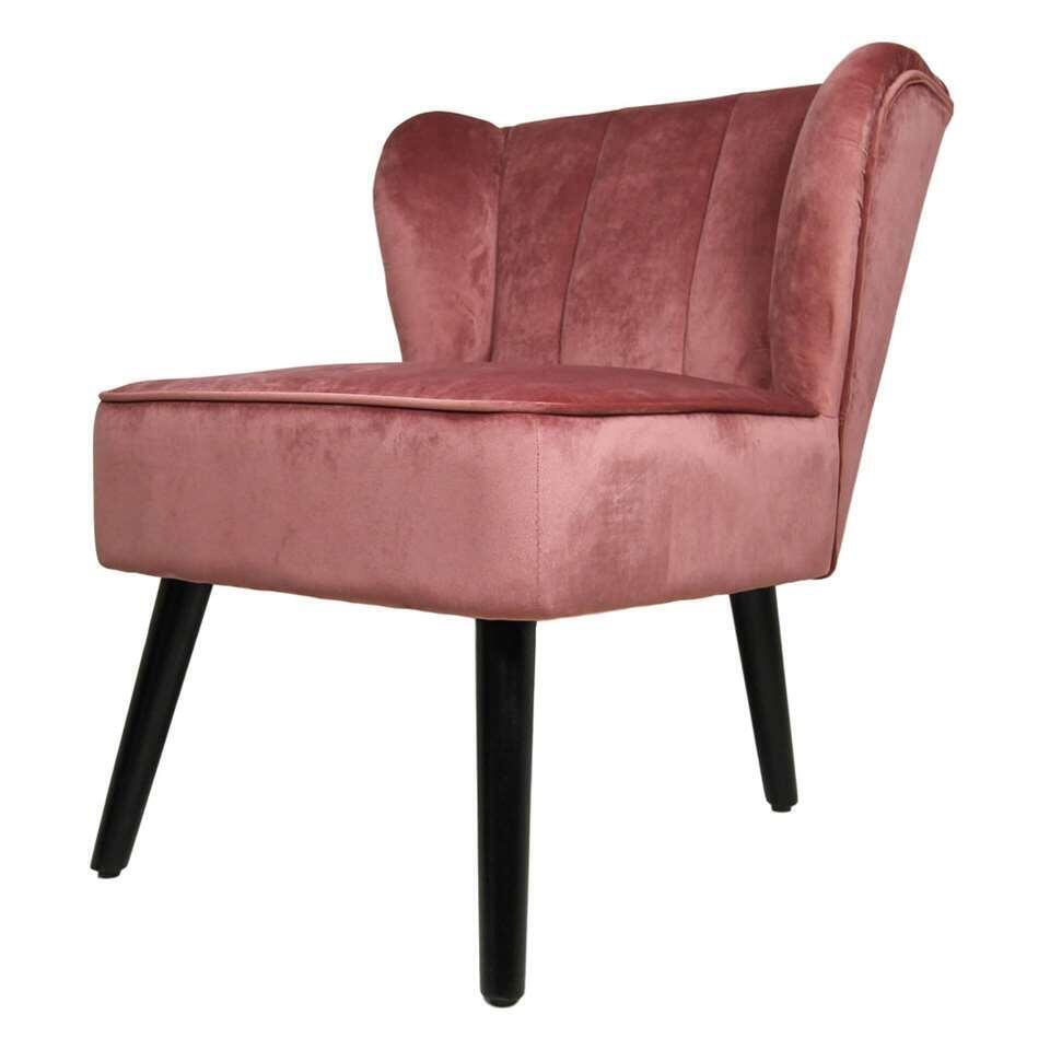HSM Collection fauteuil Odessa - velvet - champagne - Leen Bakker