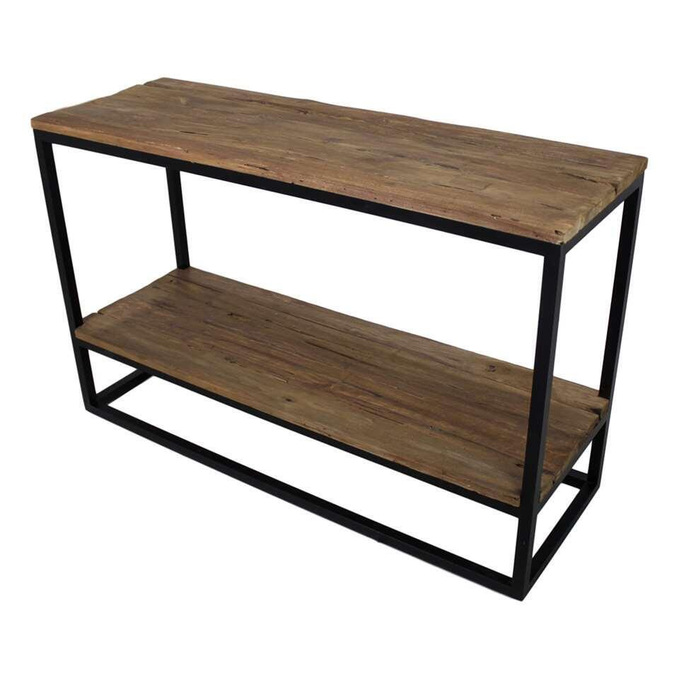 HSM Collection sidetable met onderplank Leroy - naturel/zwart - 120x40x75 cm