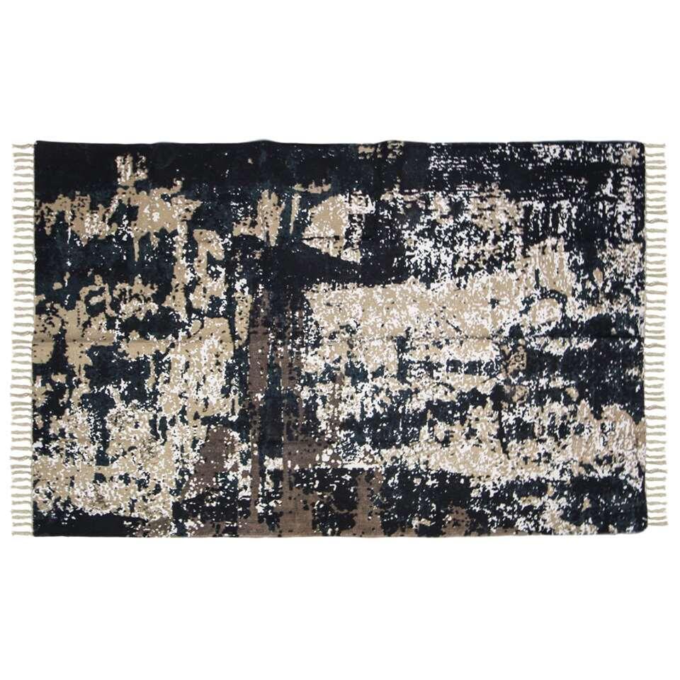 HSM Collection vloerkleed Nisa - grijs/beige/blauw/goud - 180x120 cm - Leen Bakker