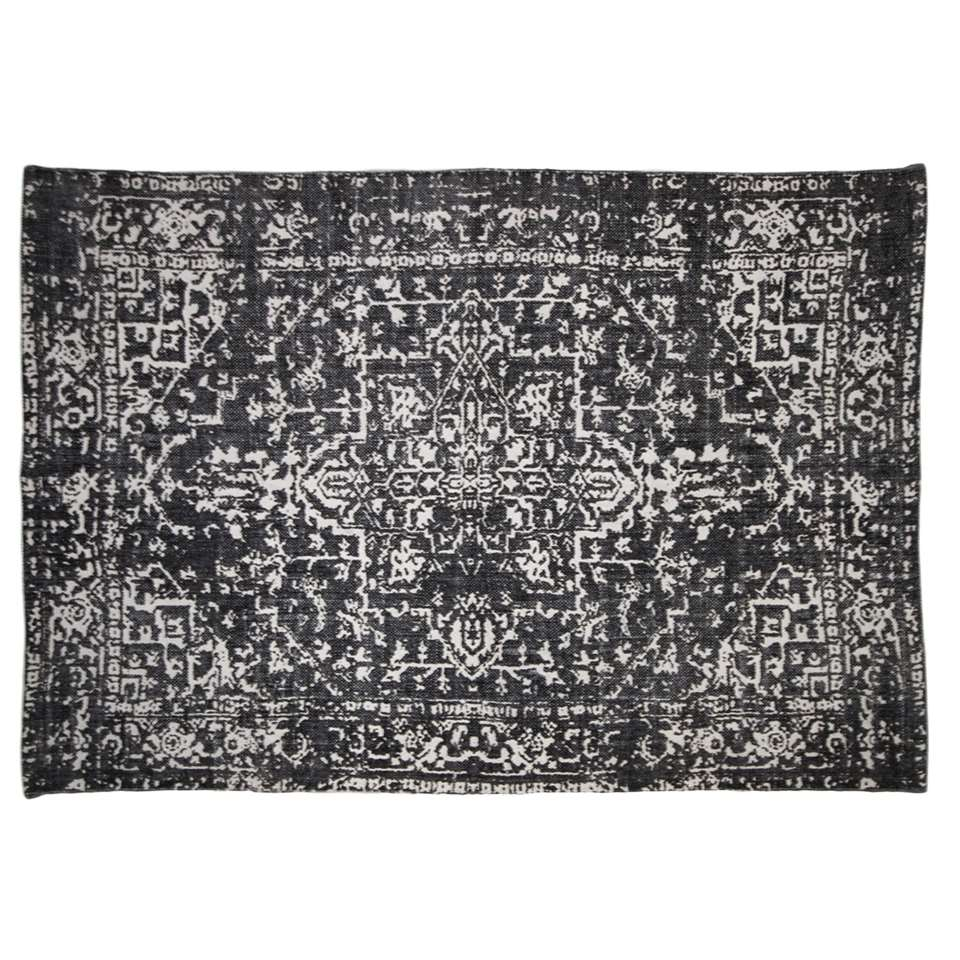 HSM Collection vloerkleed Orita - zwart/bruin - 230x160 cm - Leen Bakker