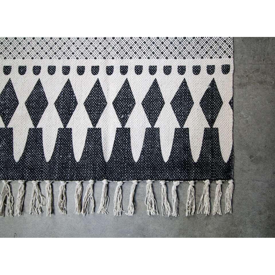 HSM Collection vloerkleed Madona - zwart/wit - 210x150 cm