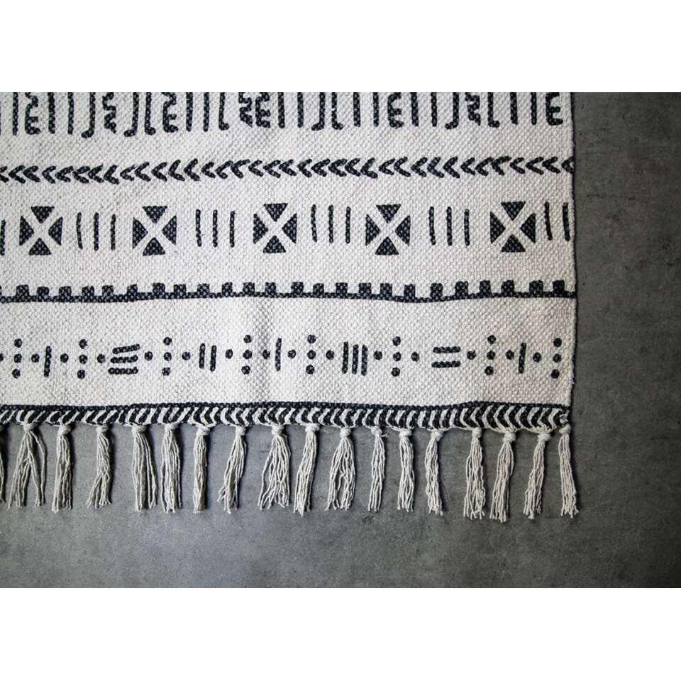 HSM Collection vloerkleed Vejen - zwart/wit - 180x120 cm