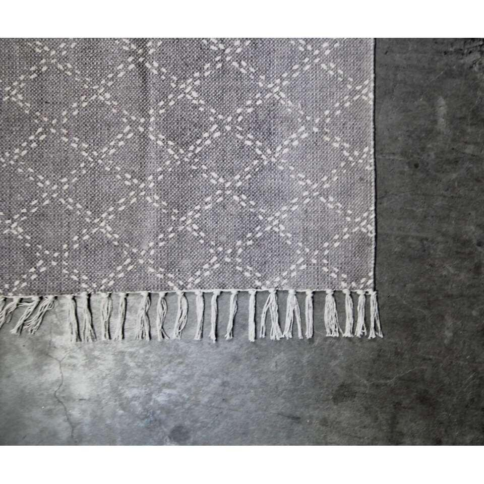 HSM Collection vloerkleed Varde - grijs - 180x120 cm - Leen Bakker