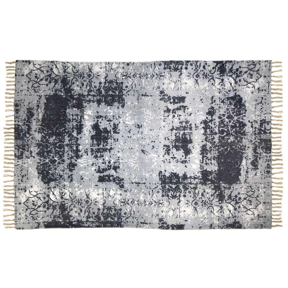 HSM Collection vloerkleed Hemmet – naturel/blauw/grijs – 180×120 cm – Leen Bakker