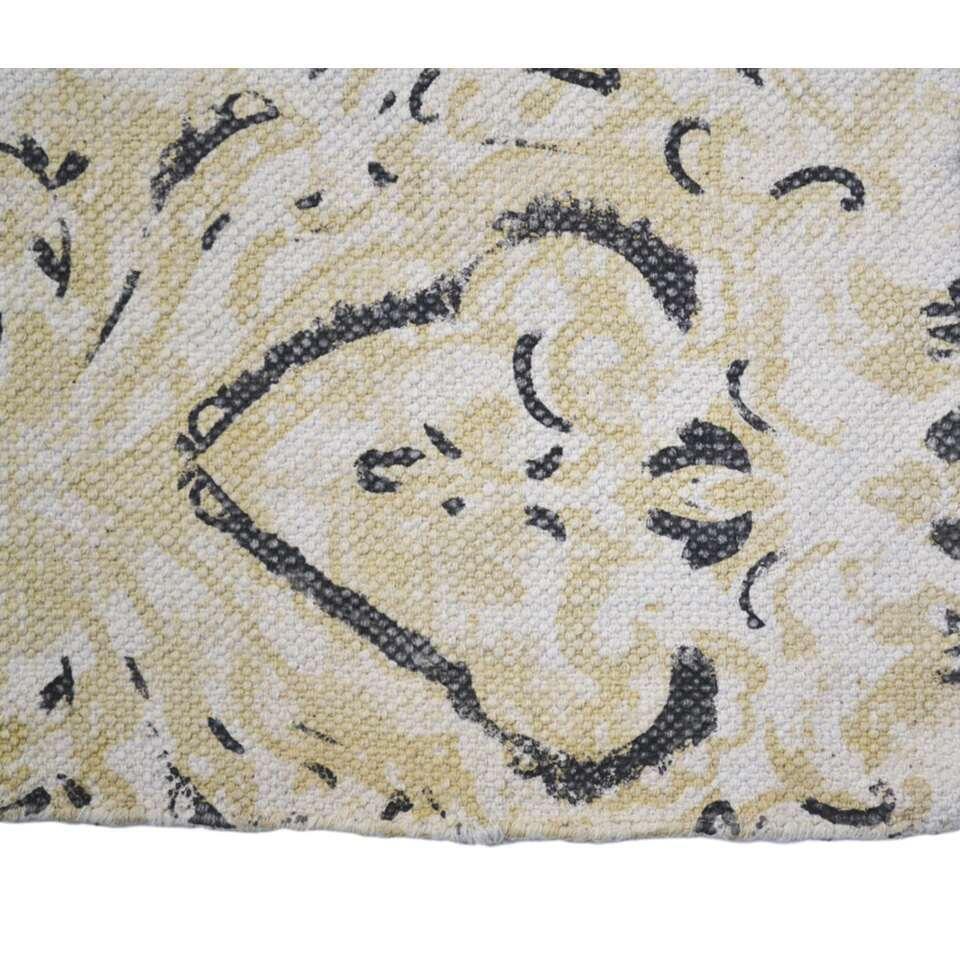 HSM Collection vloerkleed Hemmet - naturel/beige/grijs - 180x120 cm - Leen Bakker