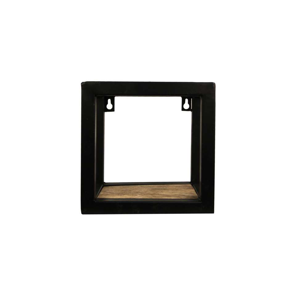 HSM Collection wandbox Levels - naturel/zwart - 20x14x20 cm