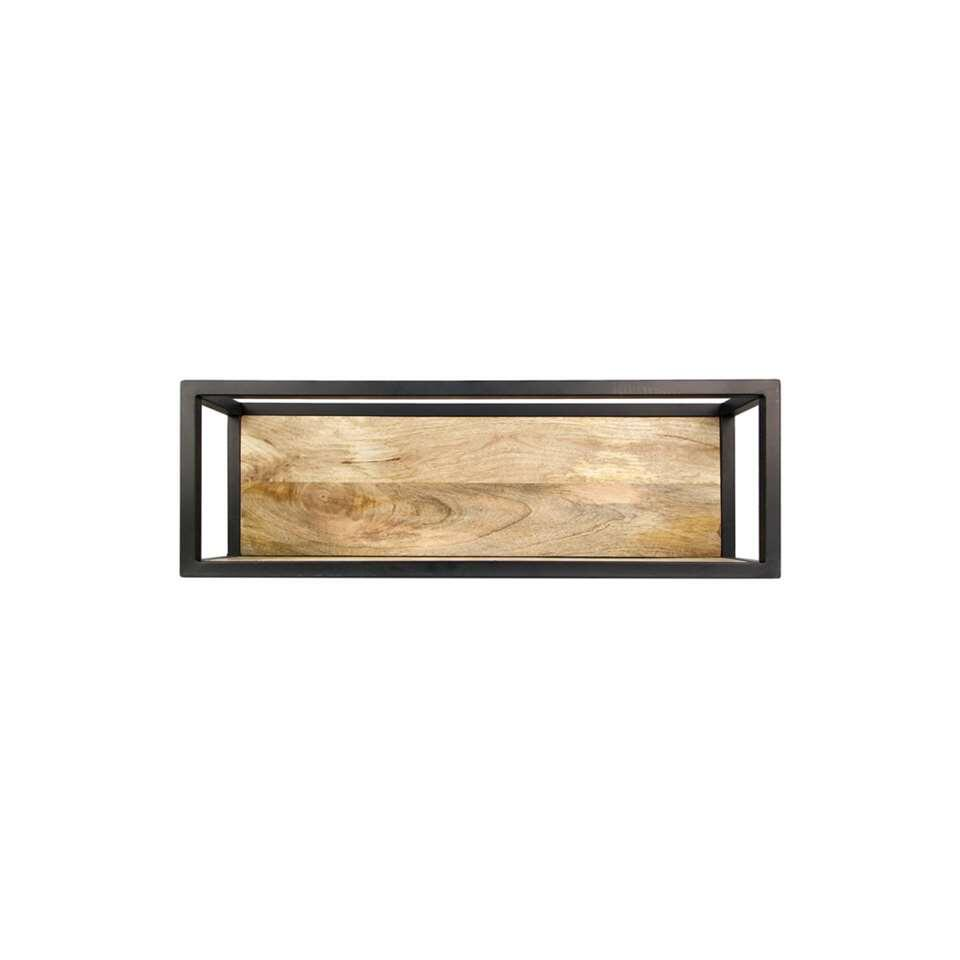 HSM Collection wandbox Levels – naturel/zwart – 75x18x25 cm – Leen Bakker