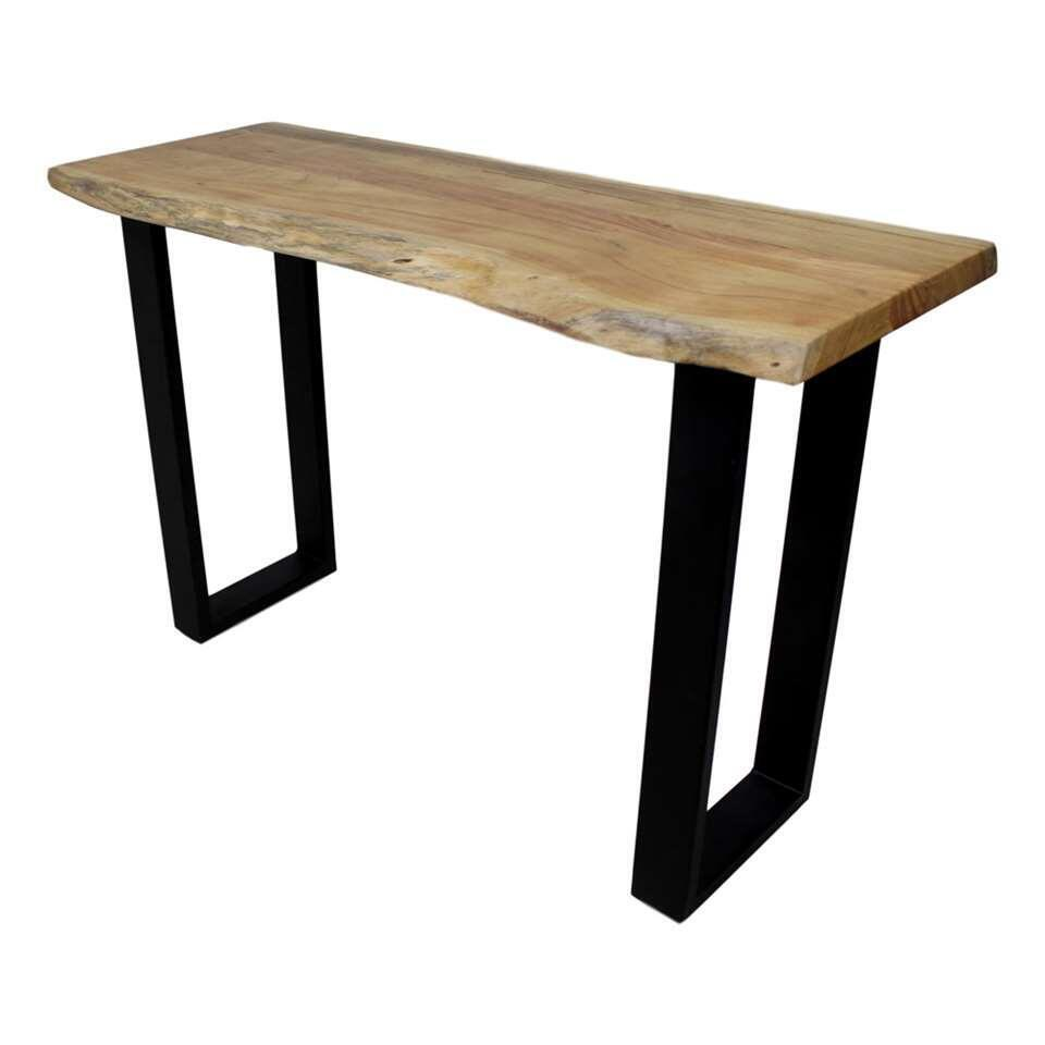 HSM Collection sidetable SoHo - bruin/zwart - 120x40x75 cm - Leen Bakker