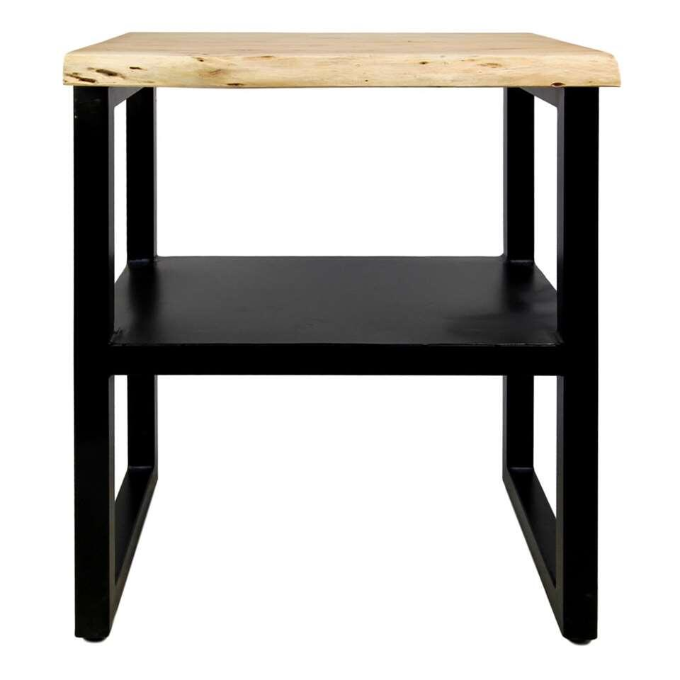 HSM Collection sidetable SoHo - bruin/zwart - 60x45x75 cm - Leen Bakker