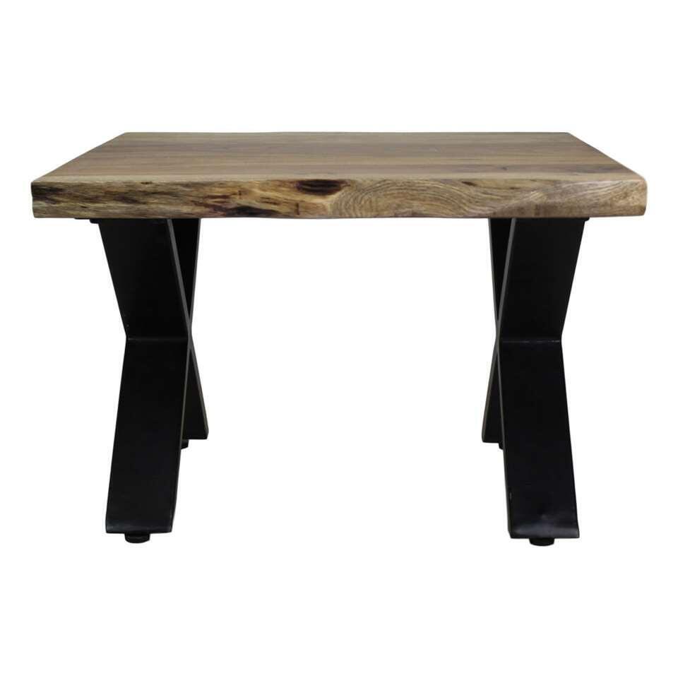 HSM Collection table de salon SoHo - marron/noire - 60x60x40 cm