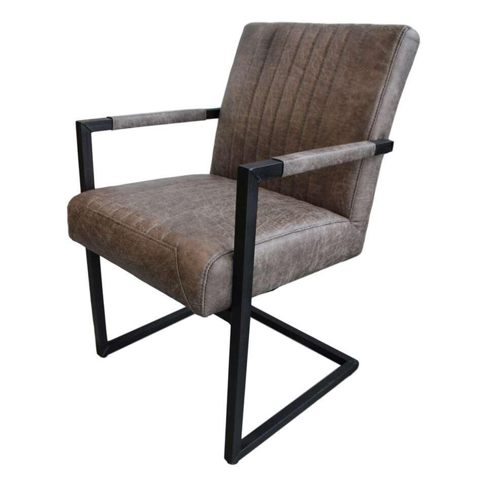 HSM Collection chaise de salle à manger Texas - cuir - couleur de foie