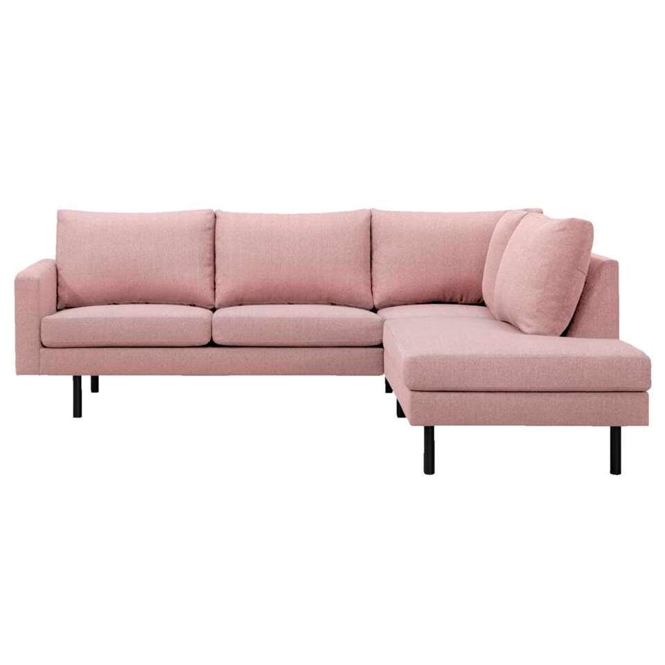 Hoekbank Collin hoek rechts stof Portland - roze - Leen Bakker