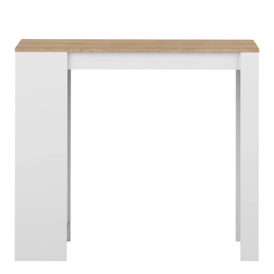 Symbiosis table bar Skolding - blanche/couleur chêne - 102,7x115x50 cm
