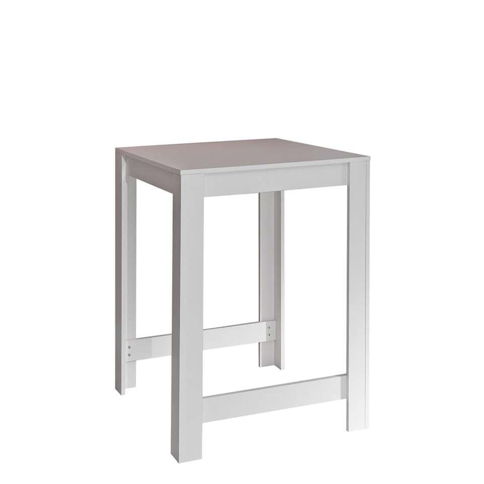 Symbiosis bartafel Tilst - wit/betongrijs - 102x80x70 cm - Leen Bakker