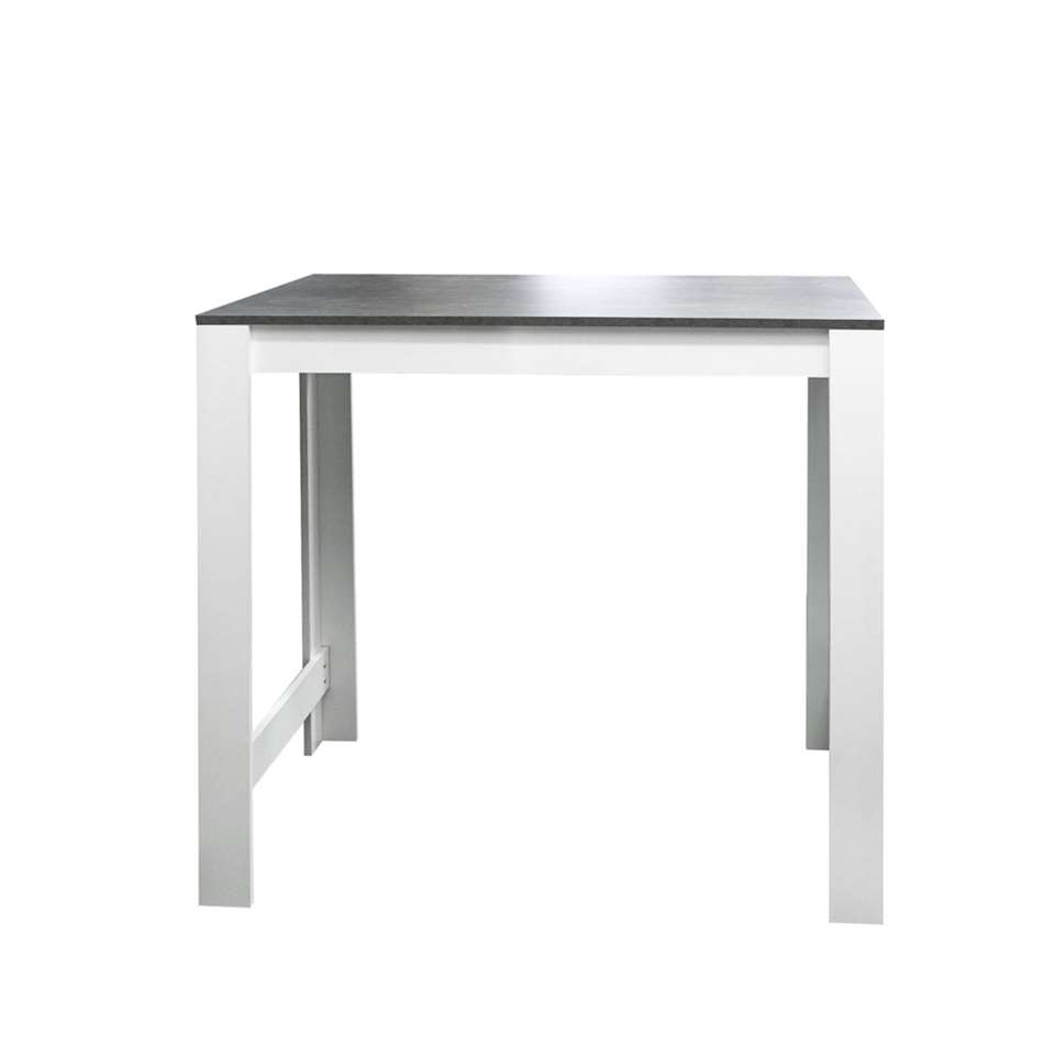 Symbiosis bartafel Tilst - wit/betongrijs - 102x110x70 cm - Leen Bakker
