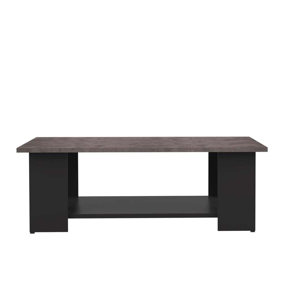 Symbiosis salontafel Kvam - eiken-/betonkleur - 37x80x53 cm