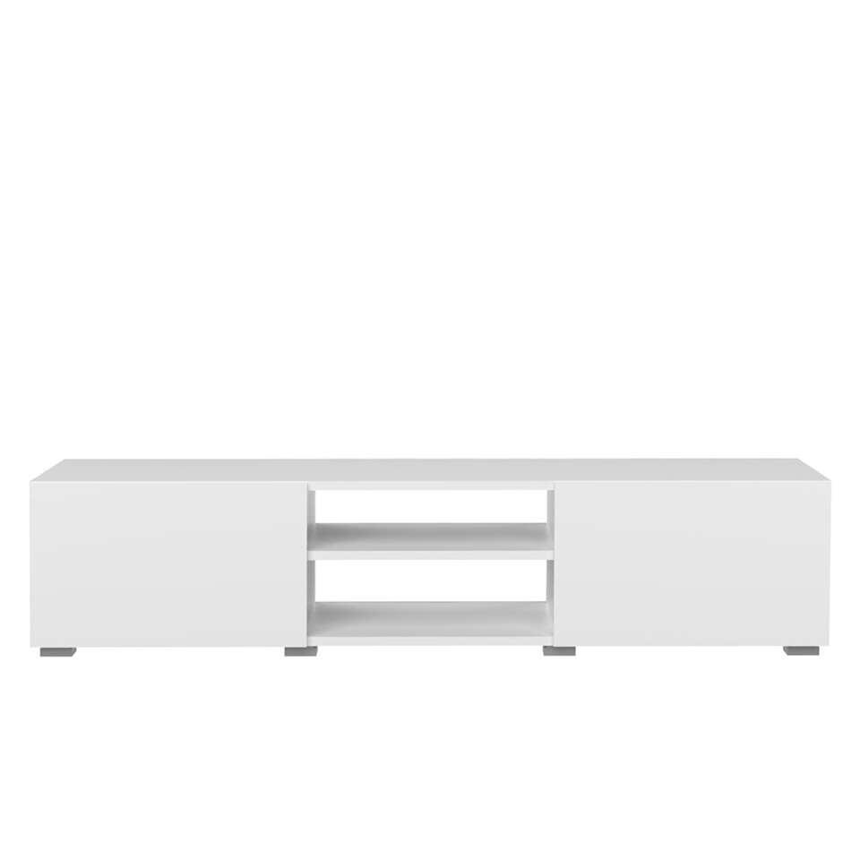 Symbiosis tv-meubel Borhaug 2 deuren - wit - 31x140x42 cm - Leen Bakker