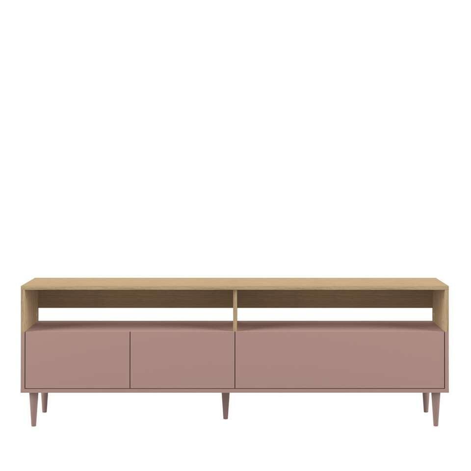 Symbiosis tv-meubel Esby - eikenkleur/oudroze - 60,6x180x40 cm