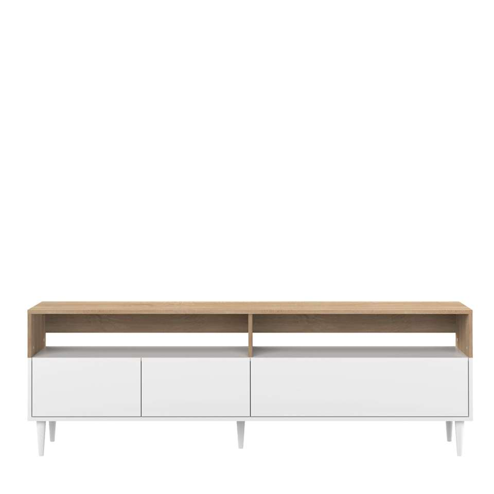 Symbiosis meuble tv Esby - couleur chêne/blanc - 60,6x180x40 cm