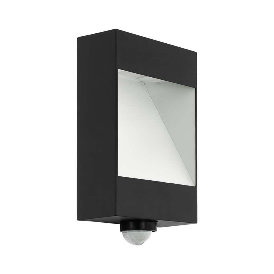 EGLO buiten-LED-wandlamp met sensor Manfria - antraciet/wit - Leen Bakker