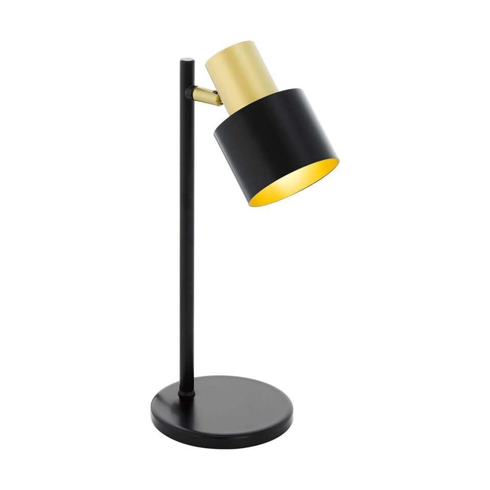 EGLO tafellamp Fiumara - zwart/goud - Leen Bakker