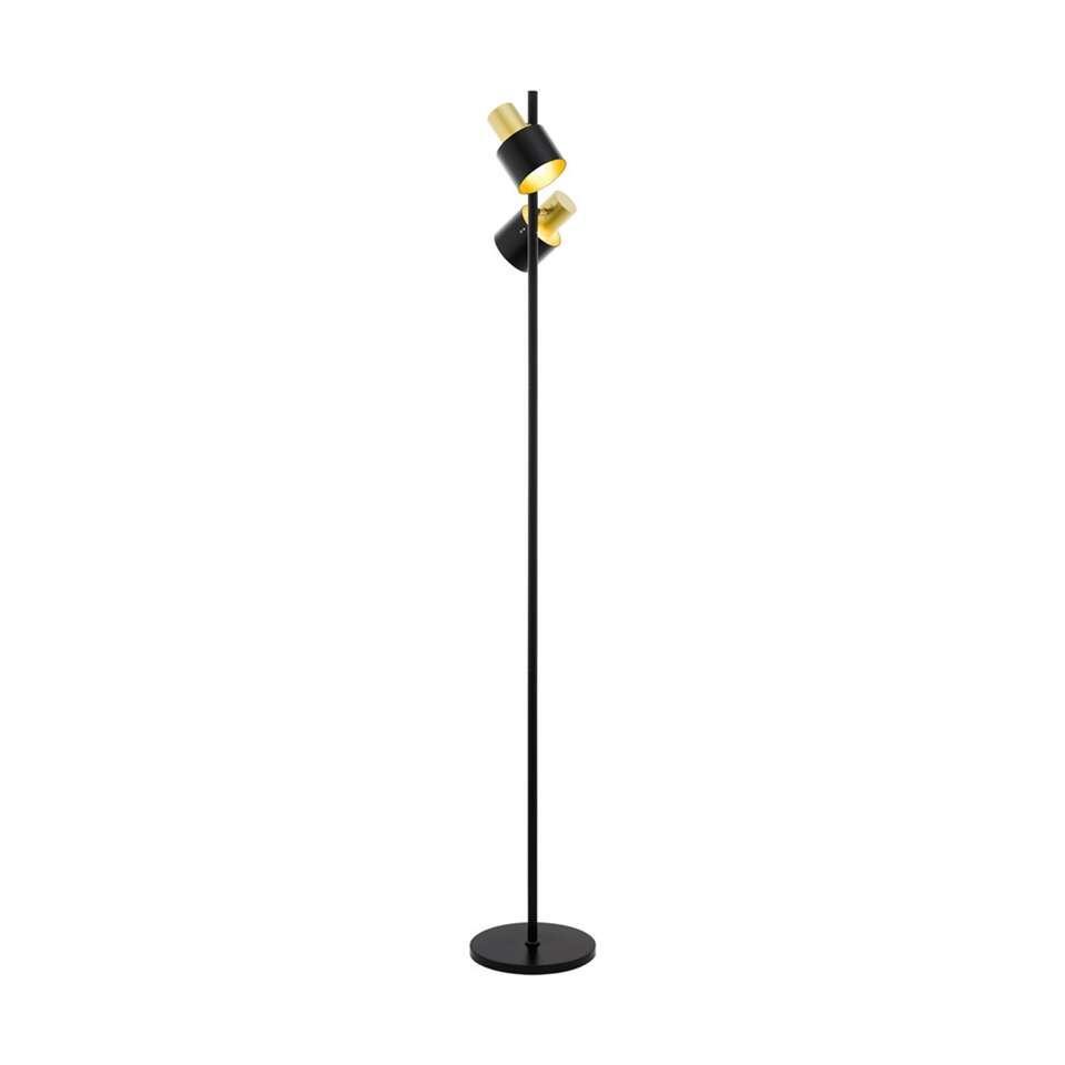EGLO vloerlamp Fiumara - zwart/goudkleurig