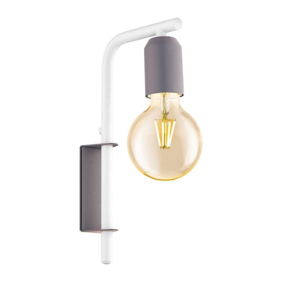 EGLO wandlamp Adri-p - pastelgrijs/wit