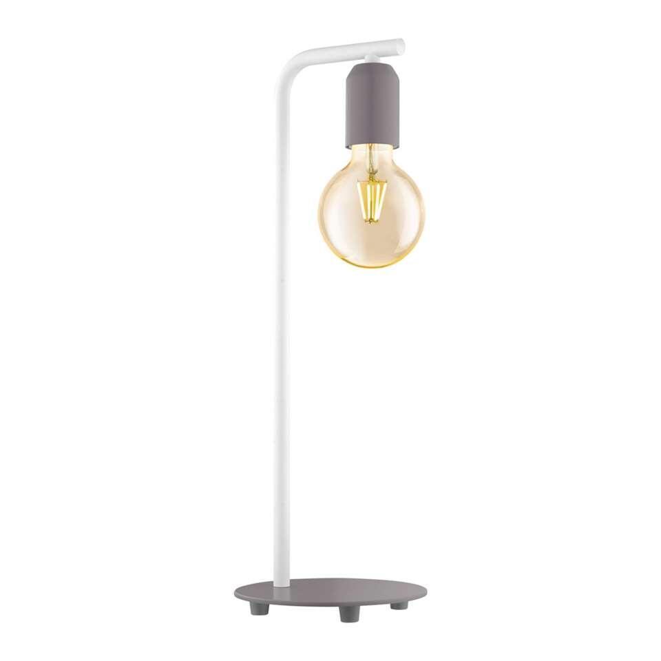 EGLO tafellamp Adri-p - pastelgrijs/wit